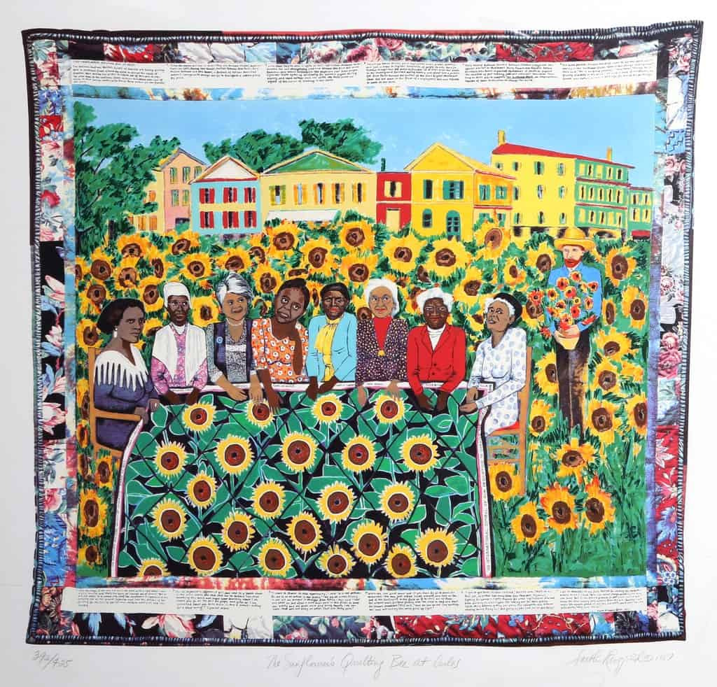 Faith Ringgold, The Sunflowers Quilting Bee at Arles, 1996