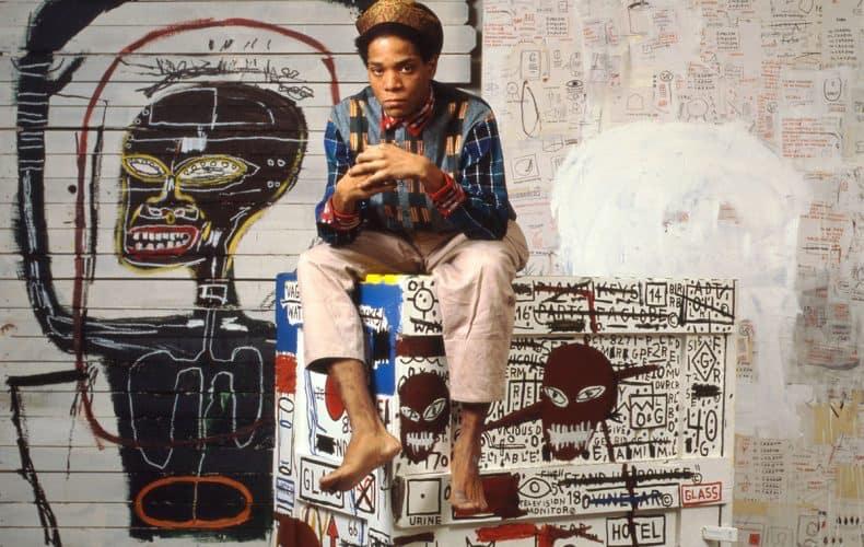 Jean-Michel Basquiat in his studio