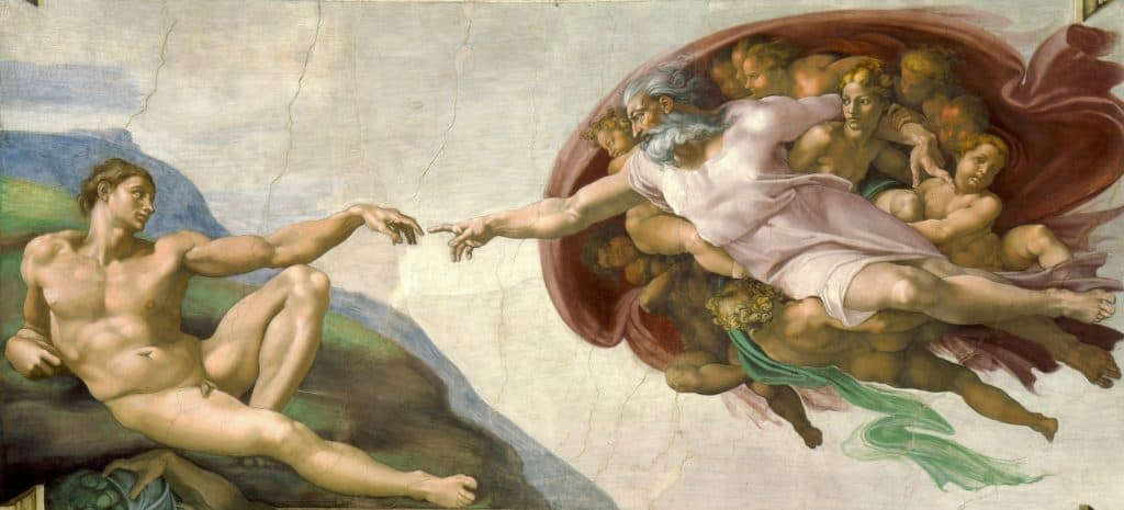 Michelangelo, The Creation of Adam, 1508-12