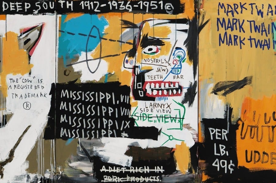 Basquiat artwork detail