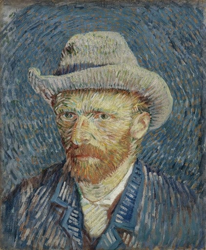 Vincent van Gogh, Self-Portrait with Grey Felt Hat, 1887