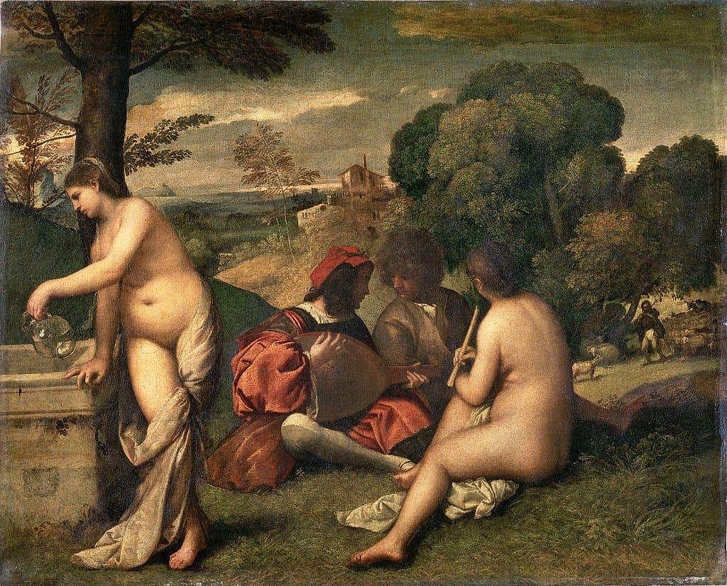 GIorgione (or Titian), Pastoral Concert, ca. 1510.