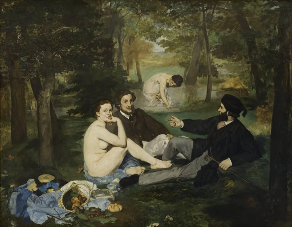 Édouard Manet, Le déjeuner sur l'herbe, 1862-1863. Salon des Refusés.