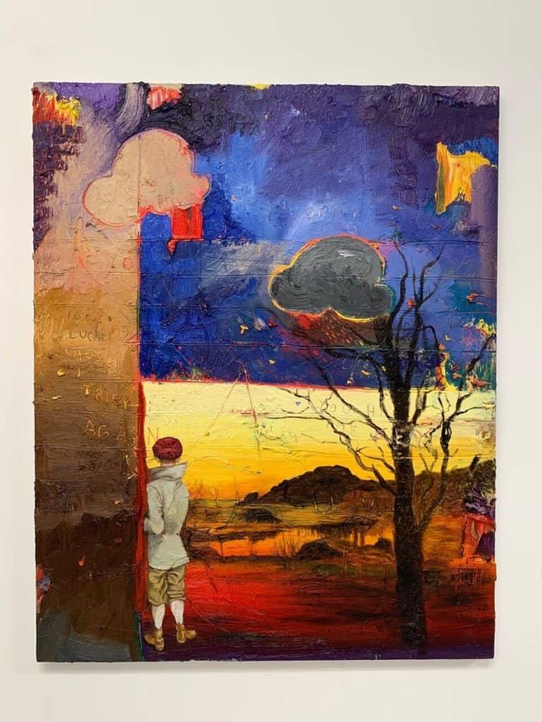 Friedrich Kunath, It Gets Easier, 2020, oil on canvas.