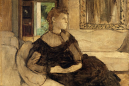 Edgar Degas Unfinished Art: Madame Théodore Gobillard - The Artlander