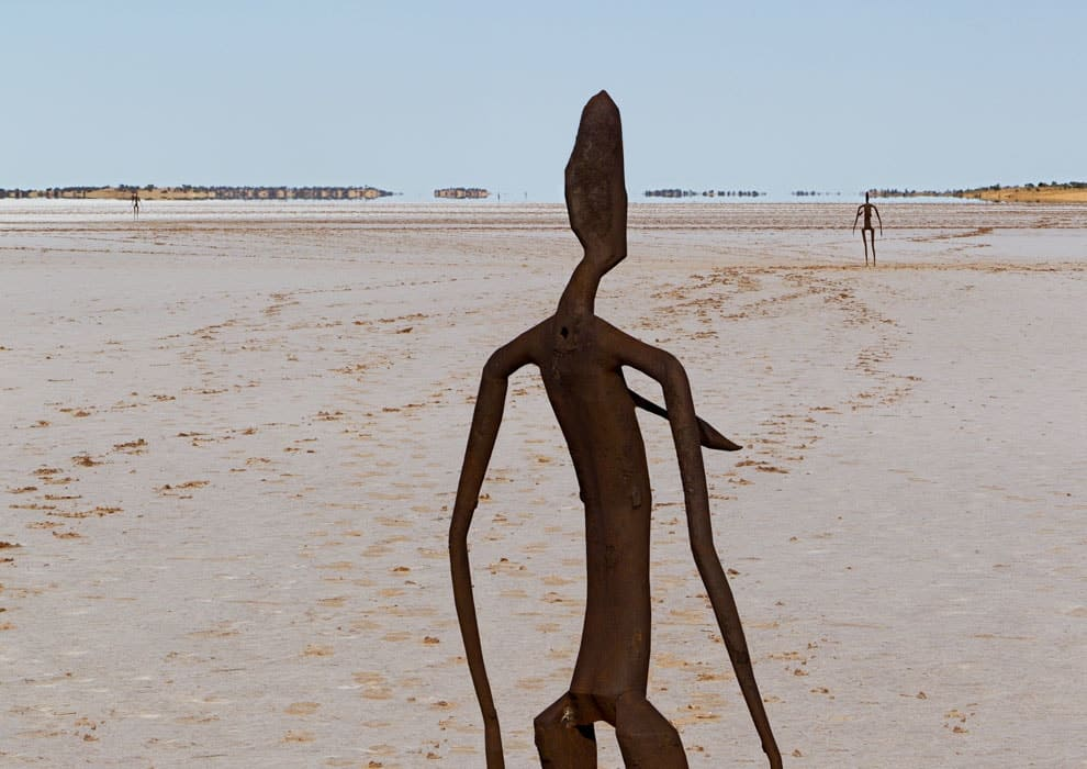 Antony Gormley, Inside Australia, Lake Ballard, 2002-03