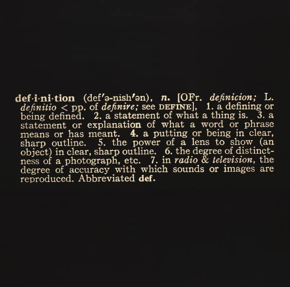 "The word ""definition"" - Art as Idea as Idea"