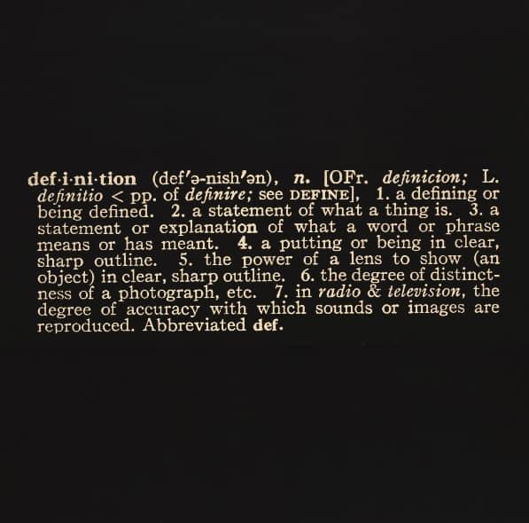 """The word """"definition"""" - Art as Idea as Idea"""