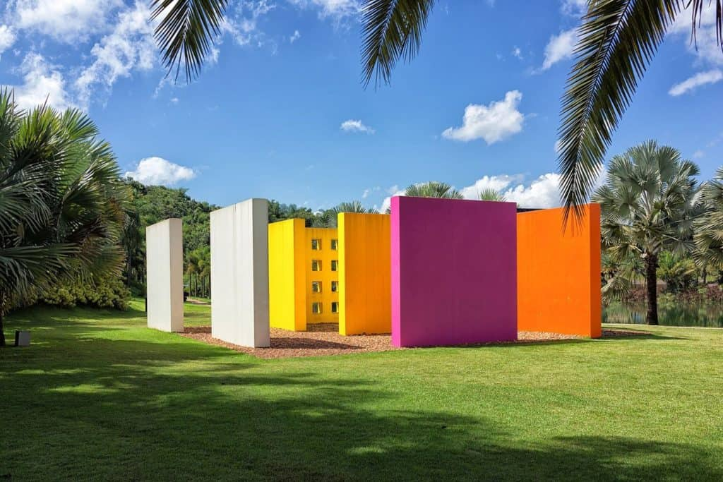 sculpture park by Hélio Oiticica at De Luxe at Inhotim museum, Brazil