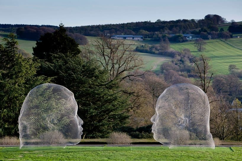 Jaume Plensa, Nuria and Irma, at the Yorkshire Sculpture Park