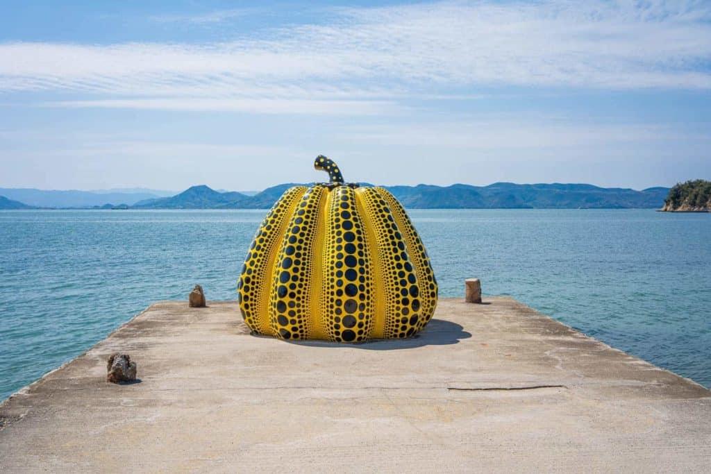 Yayoi Kusama, Pumpkin, 1994, Benesse Art Site, Naoshima, Japan.