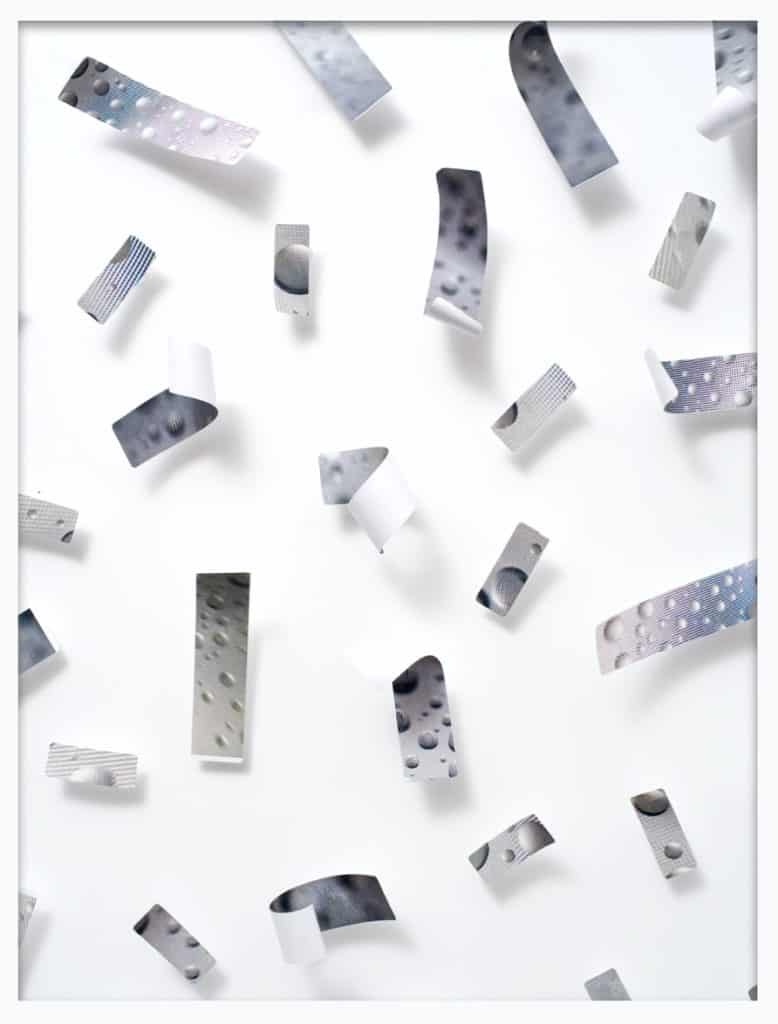 Valerie Green, Labels (Pinned) #2, 2016