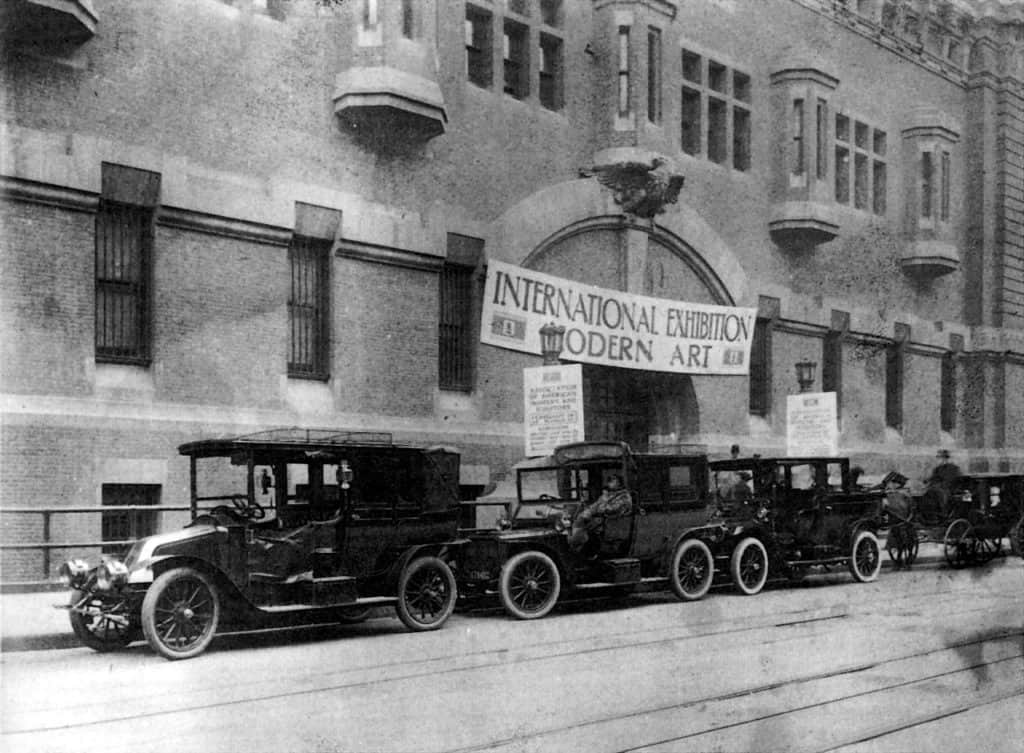 Entrance of the Armory Show, New York, 1913