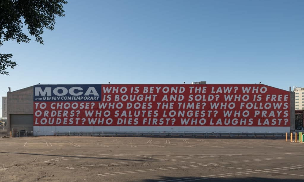 Untitled (Questions), pasted around L.A