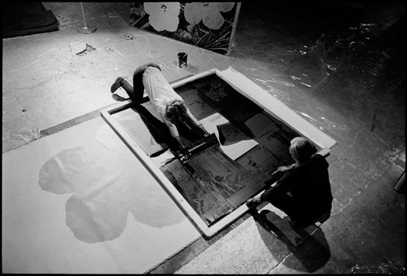 David McCabe photographing Andy Warhol and his assistant