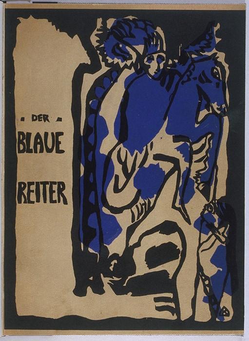Cover design for Der Blaue Reiter Almanach, 1911