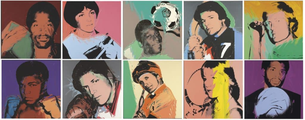 Andy Warhol, The Complete Athlete Series, 1978.