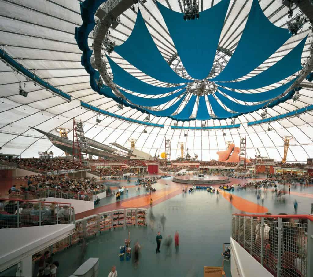 Interior view of the Millennium Dome