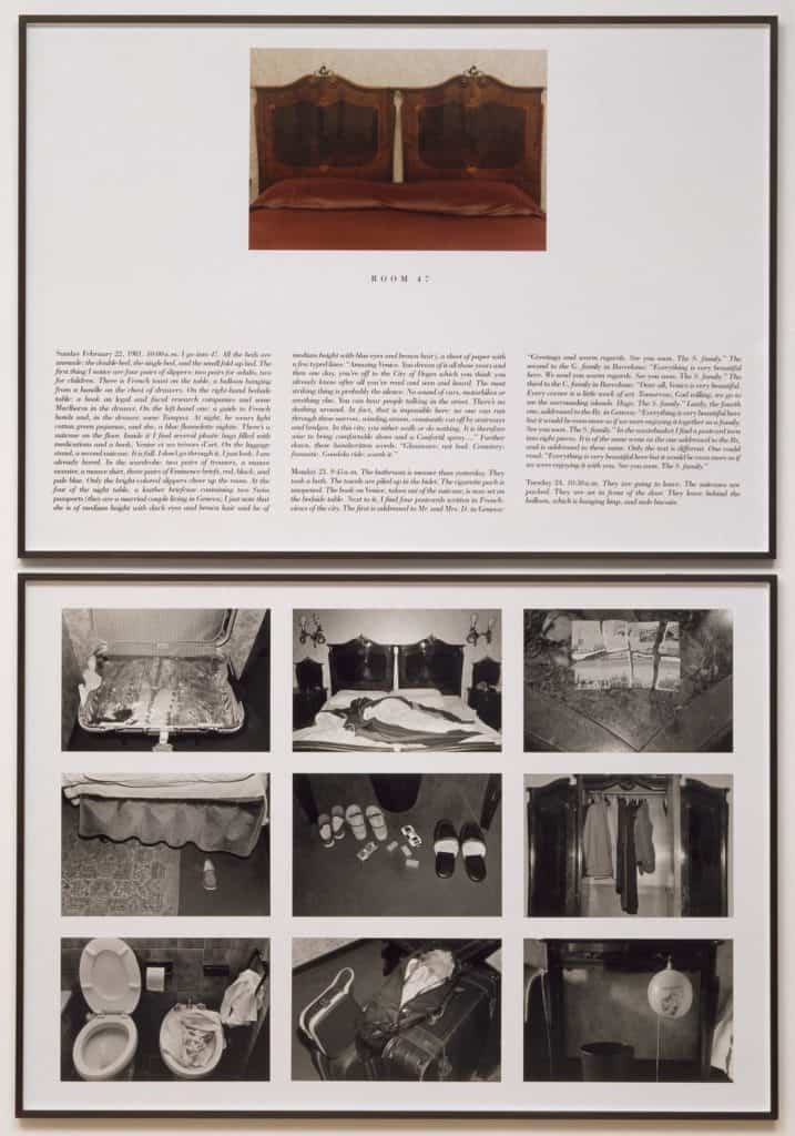 Sophie Calle, The Hotel, Room 47, 1981