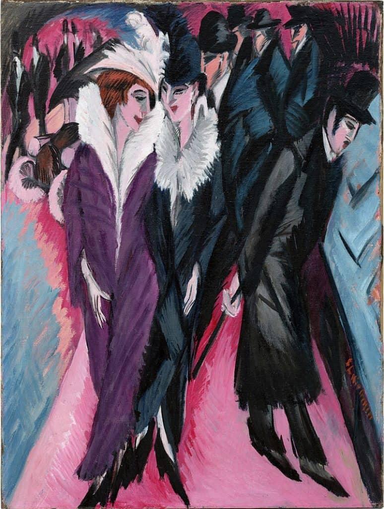 Ernst Ludwig Kirchner, Street, Berlin, 1913. Degenerate Art