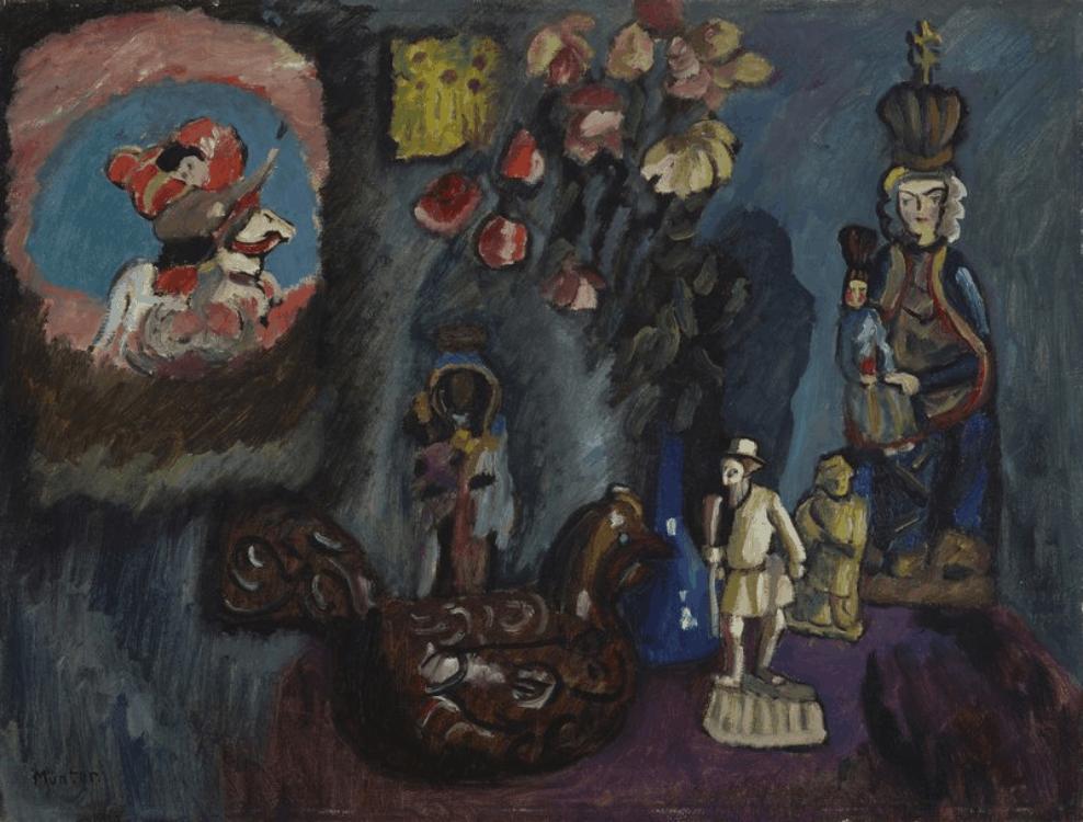 Gabriele Münter, Stillleben mit Heiligem Georg, 1911