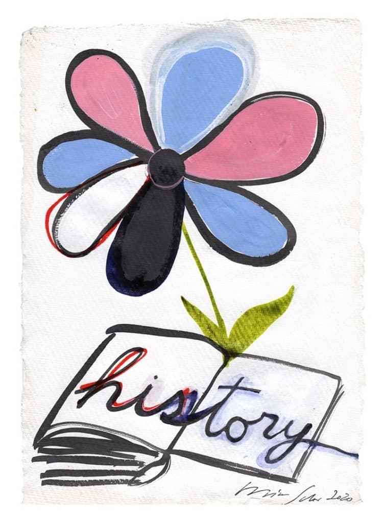 Mira Schor, Flowering History Book, 2020