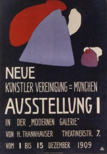 Exhibition poster for the first Neue Künstlervereinigung show in Munich, 1909