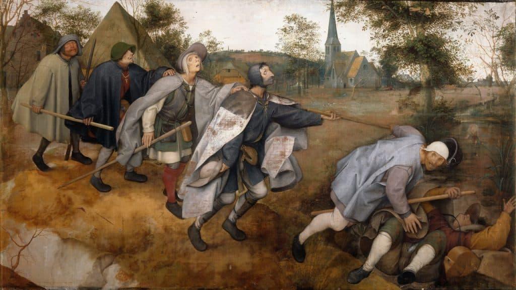Pieter Brueghel the Elder, 'The Blind Leading the Blind, Blind', or 'The Parable of The Blind', 1658