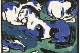 Franz Marc, Resting Horses, 1911