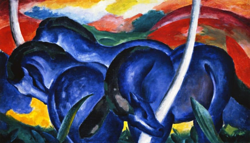 Franz Marc, Blue Horses, 1911. Der Blaue Reiter