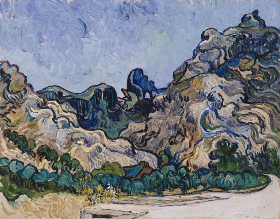 Vincent van Gogh, Mountain in Saint-Rémy, 1889. Armory Show