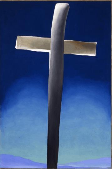 Georgia O'Keeffe, Grey Cross With Blue, 1929
