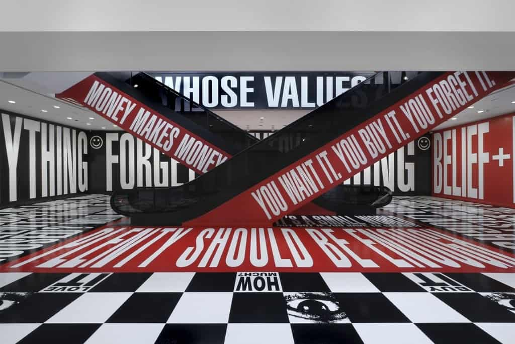 Barbara Kruger, Belief+Doubt. Hirshhorn Museum and Sculpture Garden.