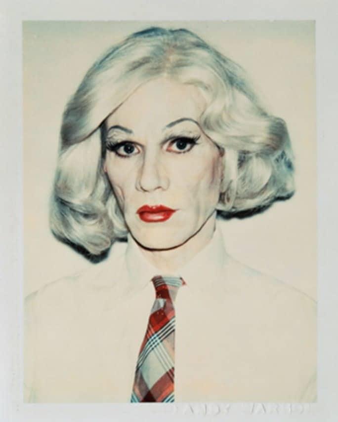 Warhol Self Portrait in Drag