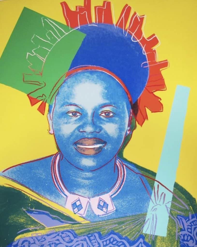 Andy Warhol, Reigning Queens: Queen Ntombi Twala of Swaziland, 1985