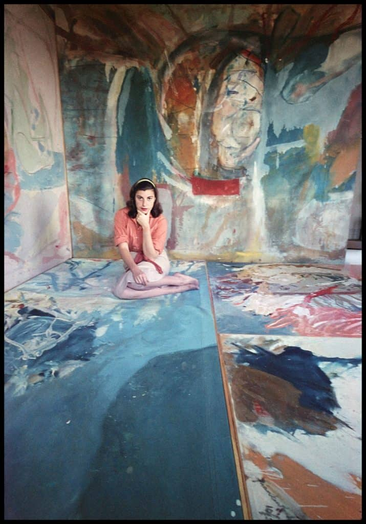 Abstract expressionist Helen Frankenthaler in her NYC studio