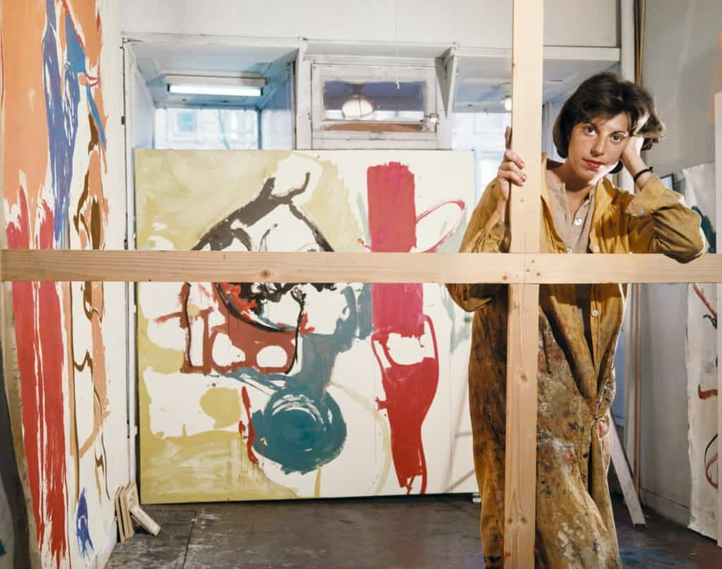 Abstract expressionist Helen Frankenthaler in her studio at Third Avenue and East 94th Street