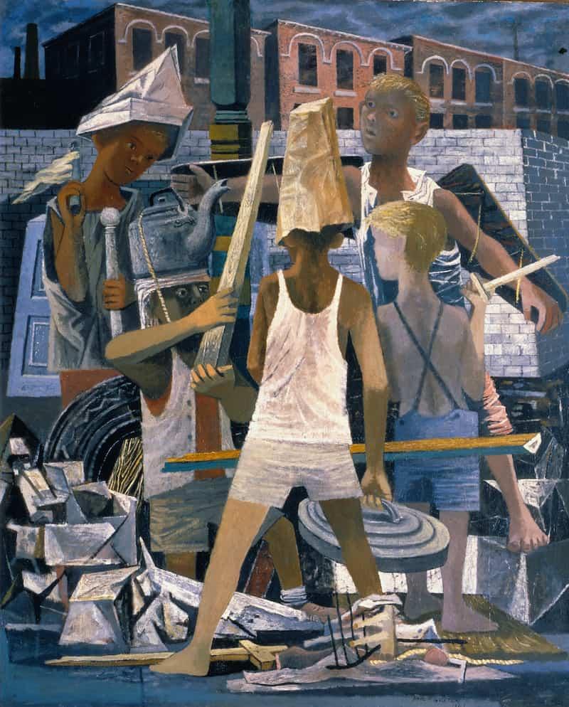 Philip Guston, Martial Memory, 1941. Saint Louis Art Museum.