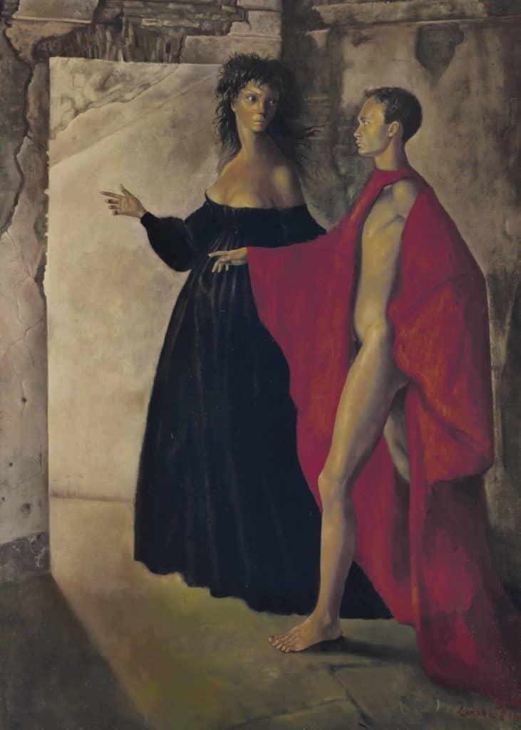 Women of surrealism: Leonor Fini, Dans la tour, 1952