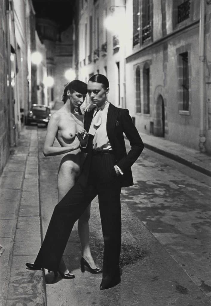 Helmut Newton, Rue Aubriot (two models), 1975