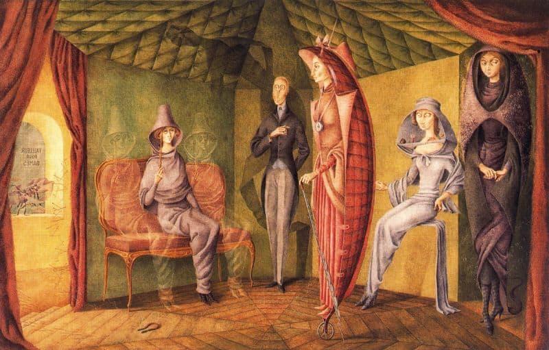 Women of surrealism: Remedios Varo, Women's Tailor, 1957