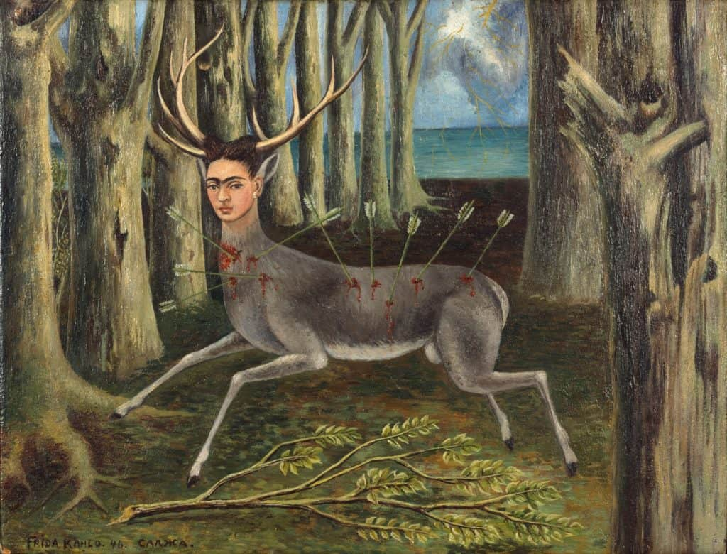 Women of surrealism: Frida Kahlo, The Wounded Deer, 1946