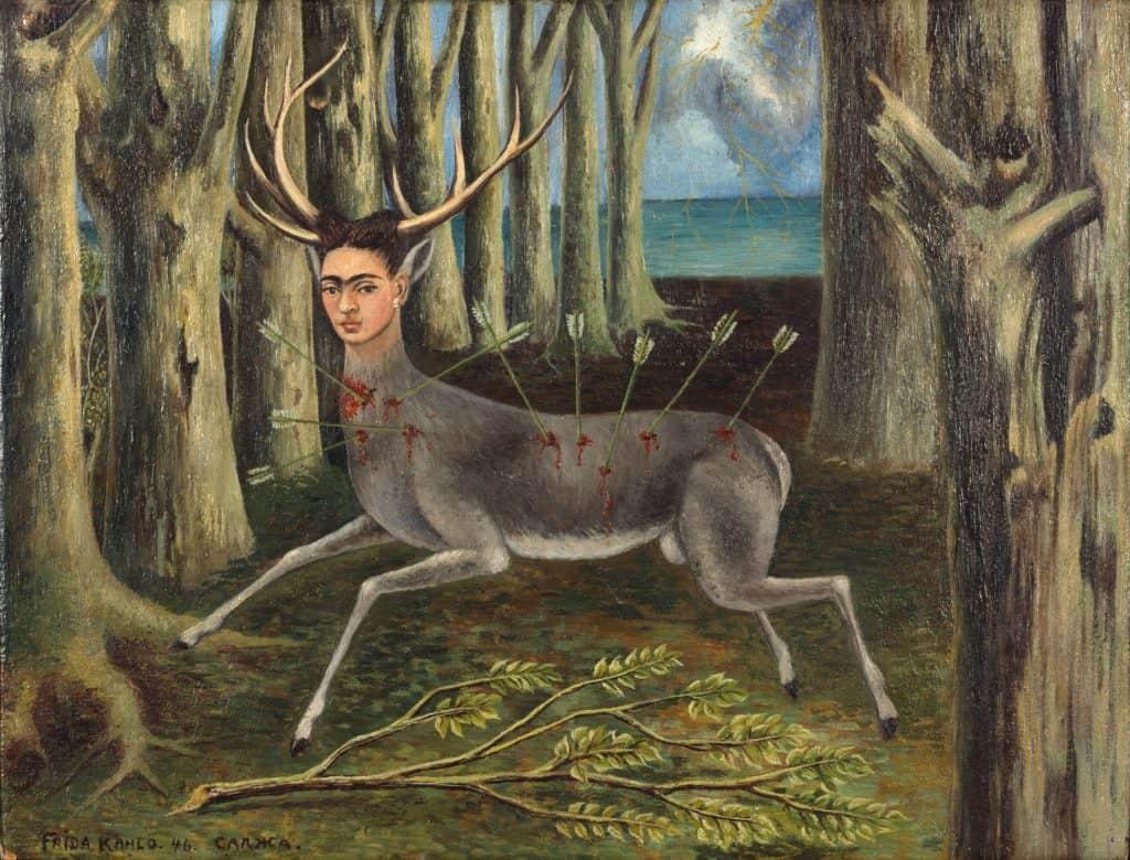 Women of surrealism: Frida Kahlo, The Wounded Deer, 1946