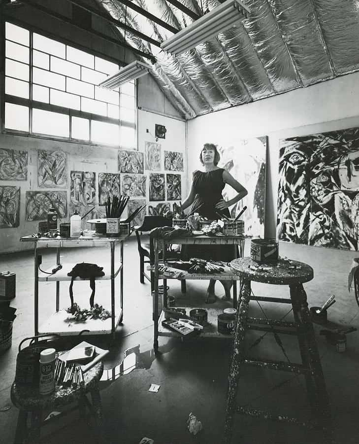Abstract Expressionist studio of Lee Krasner.