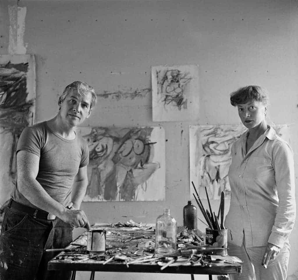 Abstract Expressionist studio of Willem and Elaine de Kooning, 1953