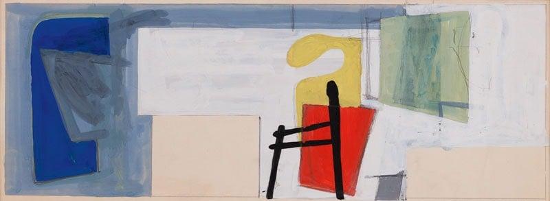 Lee Krasner, Untitled Mural Study, 1940