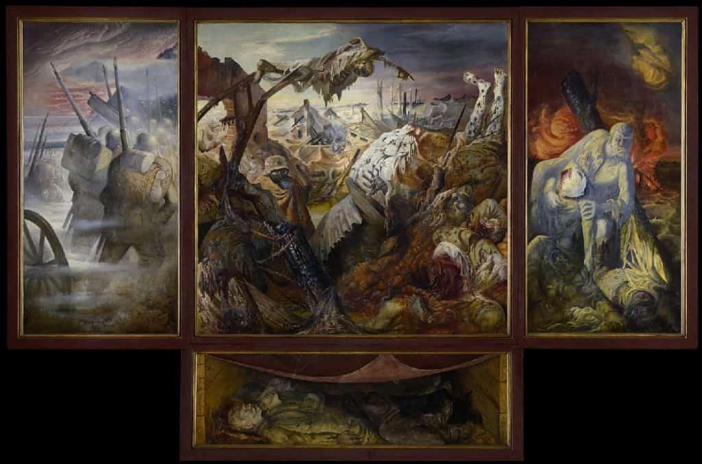 Otto Dix, The War, 1929-32. Degennerate Art