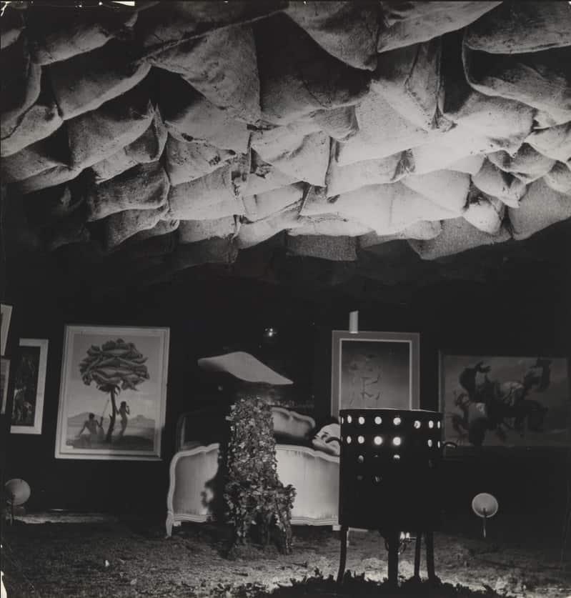 Main hall of the International Surrealist Exhibition, Paris, 1938. Photo: Roger Schall
