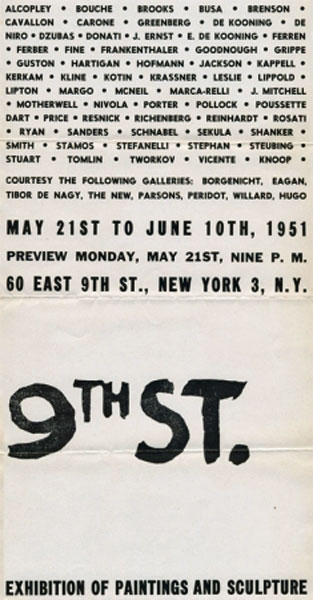 Poster for the Ninth Street Show
