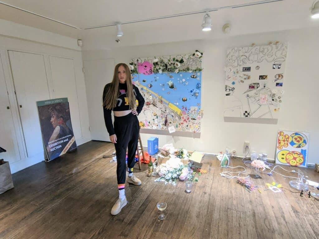 Gretchen Andrew in her LA studio. Courtesy of the artist.